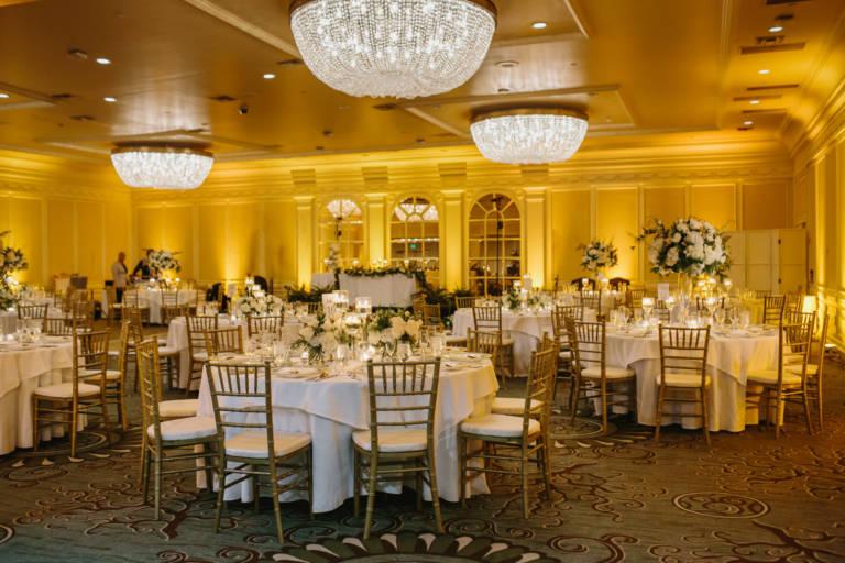 Fairmont Miramar Ballroom Wedding Reception