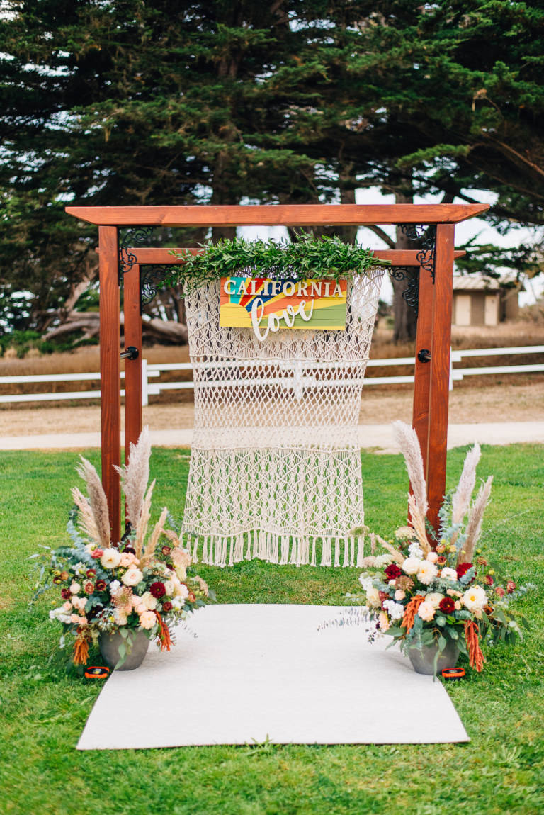 Boho Wedding Ceremony Altar