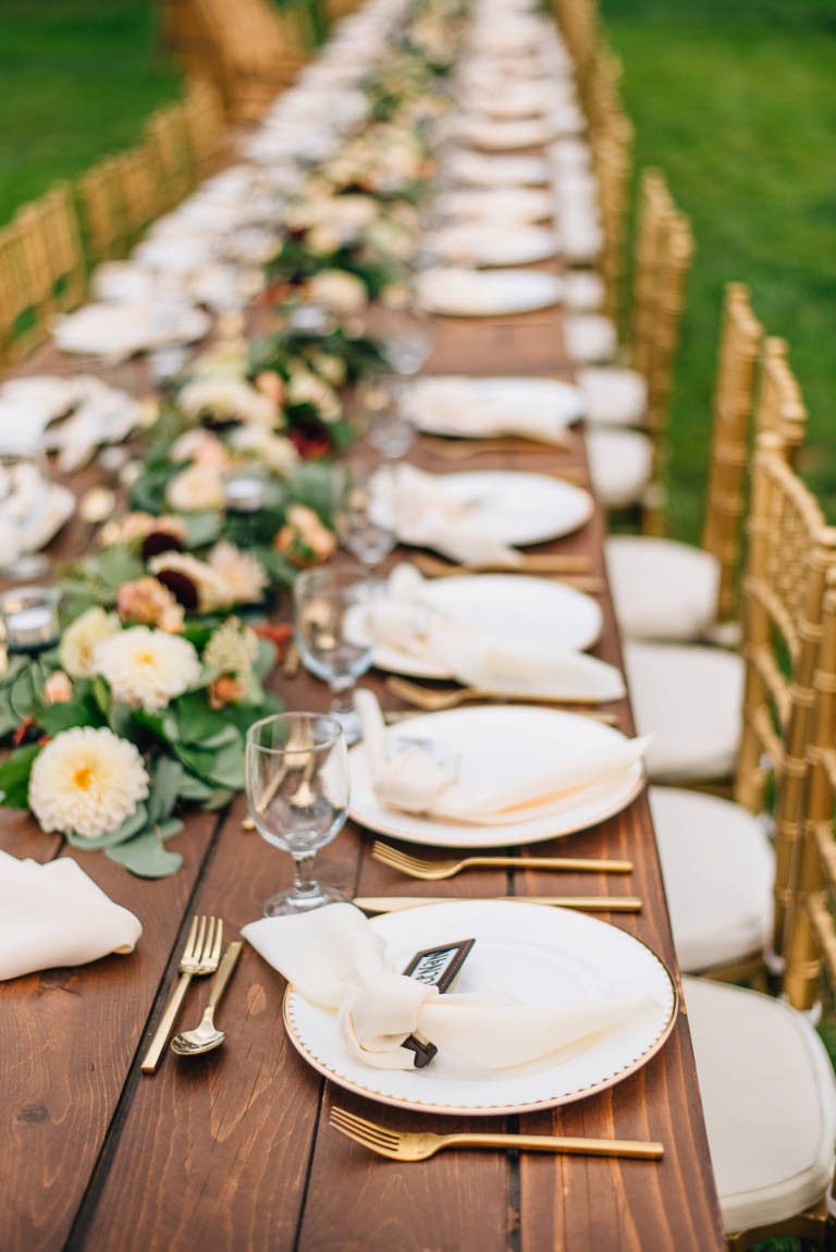 Communal Table Wedding Reception