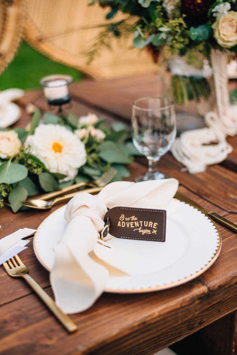 Travel Theme Place Setting