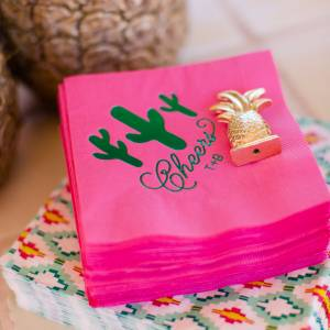 desert wedding theme cocktail napkin